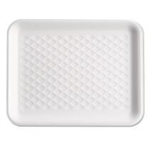 Supermarket Tray, Shallow, Foam, Black, 9-1/4 x 7-1/4 x 1/2, 125/Bag