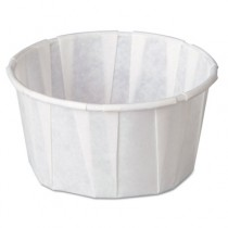 Paper Portion Cups, 4 oz., White, 250/Bag