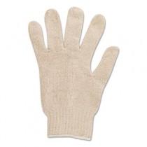 Multiknit Heavy-Duty Cotton/Poly Gloves, Size 9, Off White