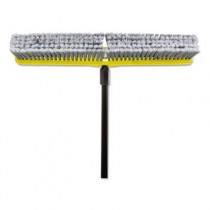 """Fine Floor Sweeper, Styrene Fill, 24"""" Brush, 3"""" Bristles, Gray"""