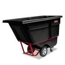 Rotomolded Tilt Truck, Rectangular, Plastic, 1250-lb Cap., Black