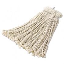 Premium Bolt-On Cut-End Mop Head, Cotton, 24-oz, White