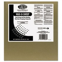 Wax-Based Sweeping Compound, Grit-Free, 50lbs, Box