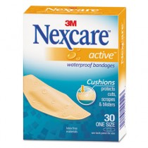 Nexcare Active Extra Cushion Flexible Foam Bandages, 1 1/16 x 3, Adhesive