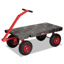 5th-Wheel Wagon Truck, 2000-lb Cap., 24 1/4w x 56 1/4d x 17 1/2h, Black