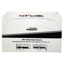Toilet Seat Covers, White, 1/2-Fold, 15 x 10 1/2