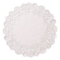 "Brooklace Lace Doilies, Round, 6"", White"