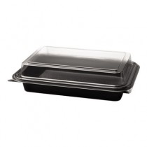 Specialty Containers, Black/Clear, 24oz, 8.68w x 6.18d x 2.17h