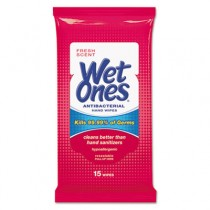 """Antibacterial Moist Towelettes Travel Pack, 1-Ply, White, 5"""" x 7"""", Fresh Scent"""