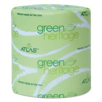 Green Heritage Toilet Tissue, Individually Wrapped, 2-Ply, 400/Roll