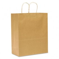 Handled Shopping Bags, #65, 13w x 7d x 17h, Natural
