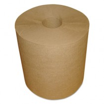 "Hardwound Roll Towels, Kraft, 1-Ply, 600 ft, 7.8"" Dia"