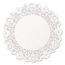 "Brooklace Lace Doilies, Round, 4"", White"