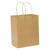 Handled Shopping Bags, #60, 8w x 4 1/2d x 10 1/4h, Natural