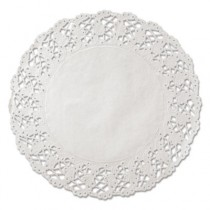 """Kenmore Lace Doilies, Round, 16"""", White"""
