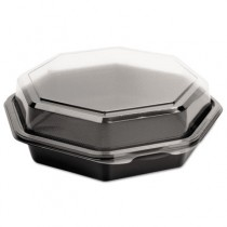 OctaView CF Containers, Black/Clear, 21oz, 7.94w x 7.48d x 2.36h