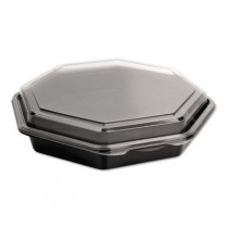 OctaView CF Containers, Black/Clear, 31oz, 9.57w x 9.18d x 1.97h