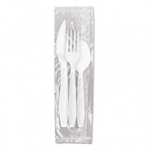Reliance Mediumweight Cutlery Kit: Knife/Fork/Spoon, White