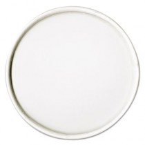Spiral-Wound Paper Hot Cup Lids, 16oz Cups, White