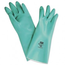 NitriGuard Unsupported Nitrile Gloves, Green, One Size Fits All