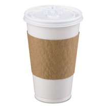The Sleeve Hot Cup Sleeve for 10-20 oz Cups, Paperboard, Brown