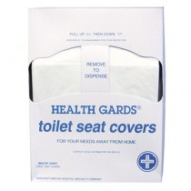Health Gards Toilet Seat Covers, White, Paper, Quarter-Fold, 200 Covers/Pack