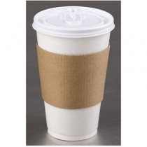 Coffee Clutch Hot Cup Sleeve for 10-20 oz Cups, Kraft, Brown