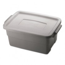 Roughneck Storage Box, 3gal, Steel Gray