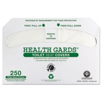 Health Gards Recycled Toilet Seat Covers, White, 250/Pack