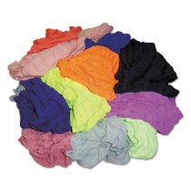Colored T-Shirt Rags, Multicolored, Multi-Fabric,10 lb Polybag
