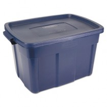 Roughneck Storage Box, 25gal, Dark Indigo Metallic, 19.7w x 28 4/5d x 16 1/2h