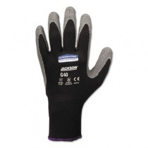 KLEENGUARD G40 Latex Coated Gloves, Size 11 (XXL), Poly/Cotton, Grey/Black