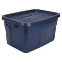 Roughneck Storage Box, 14gal, Dark Indigo Metallic