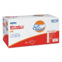 WYPALL L40 Professional Towels, 12 x 23, White, 45/Box