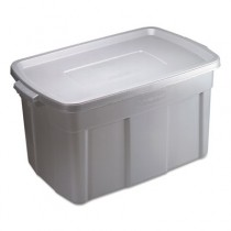 Roughneck Storage Box, 31gal, Steel Gray