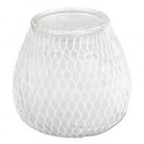 Euro-Venetian Filled Glass Candles, Frost White, 60 Hour Burn