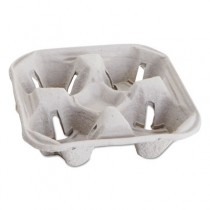 Carryout Cup Trays, 12-20oz, 4-Cup Capacity