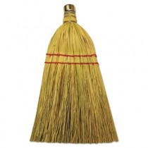 "Mixed Fiber Whisk Brooms, Corn/Synthetic Fiber, 12"", Natural"