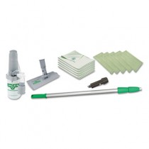 """Indoor Window Cleaning Kit, Aluminum, 72"""" Extension Pole With 8"""" Pad Holder"""
