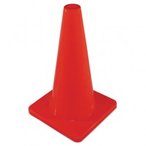 "Safety Cone, Unmarked, Plastic, 18"" Orange"