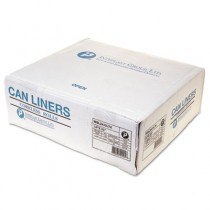 Low-Density Commercial Can Liners, 12-16gal, 24 x 33, 0.35mil, Black