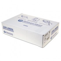 Low-Density Can Liner, 38 x 58, 60-Gallon, 1.15 Mil, Clear, 20/Roll