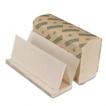 Boardwalk Green Folded Towels, Multi-Fold, Natural White, 9 1/8 x 9 1/2