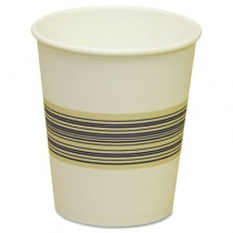 Paper Hot Cups, 10 oz, Blue/Tan