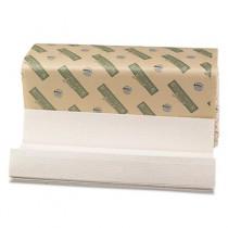 Boardwalk Green Towels, C-Fold, Natural White, 10 1/8W x 13L
