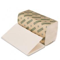 Boardwalk Green Towels, Single-Fold, Natural White, 9 x 10