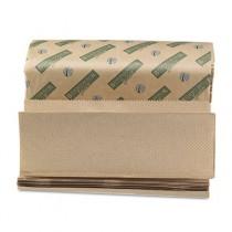 Boardwalk Green Towels, Multi-Fold, Natural, 9 1/8W x 9 1/2L
