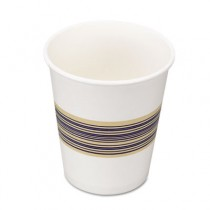 Paper Hot Cups, 8 oz, Blue/Tan