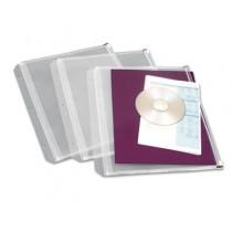 Zippered Binder Pockets, 8-1/2 x 11, Clear, 3 Pockets/Pack