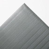 Ribbed Antifatigue Mat, Vinyl, 36 x 60, Gray